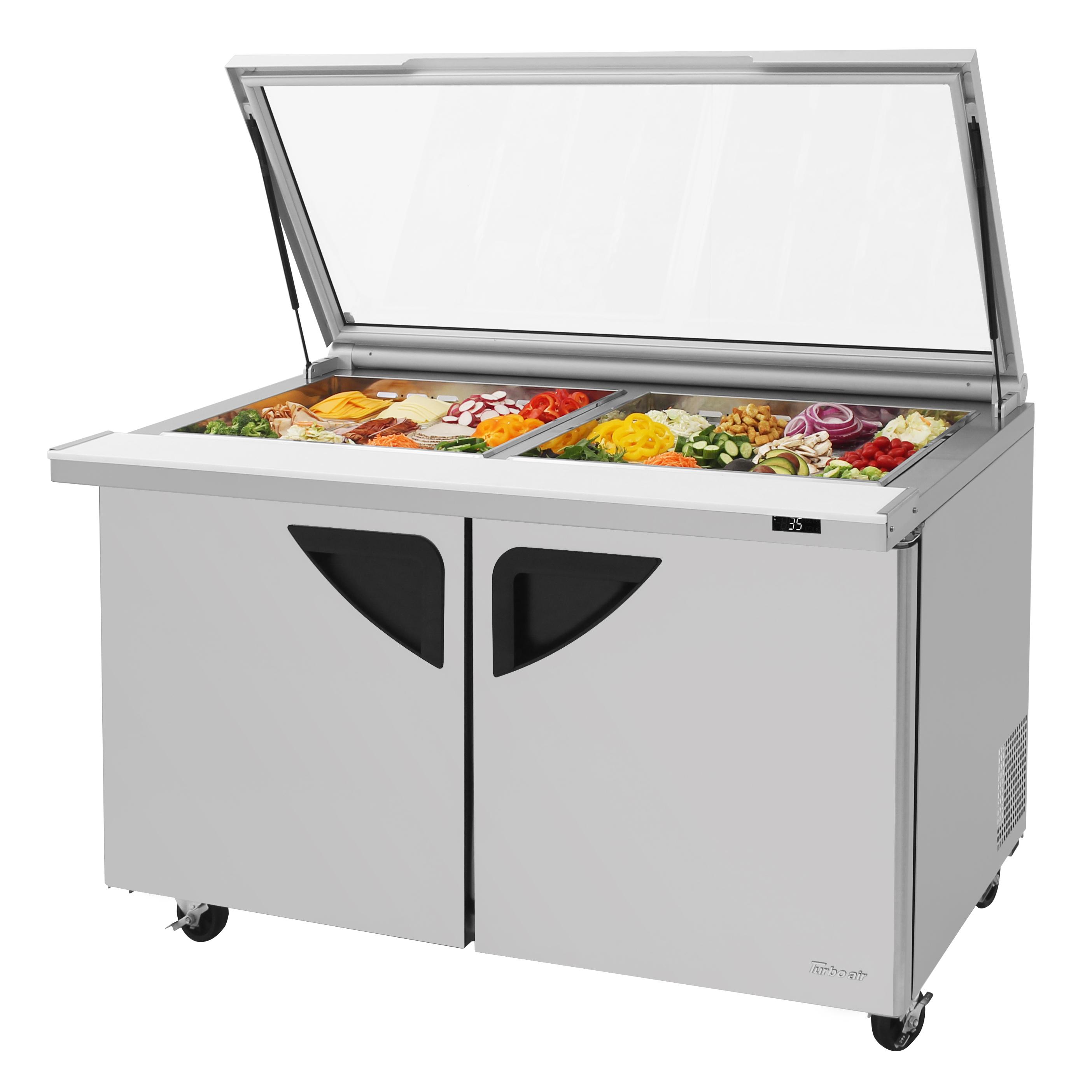 Turbo Air TST-60SD-24-N-GL refrigerated counter, mega top sandwich / salad unit
