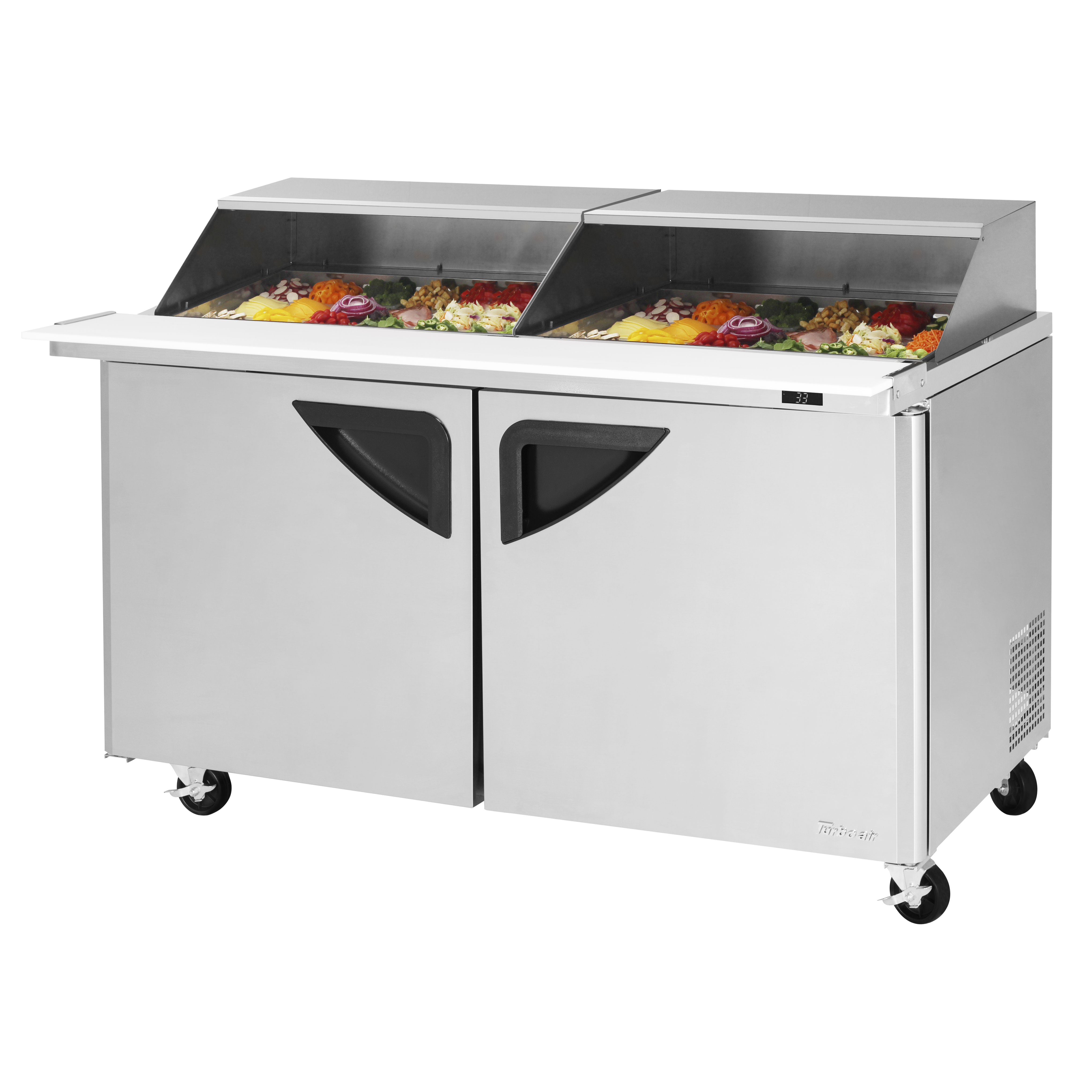 Turbo Air TST-60SD-24-N-SL refrigerated counter, mega top sandwich / salad unit
