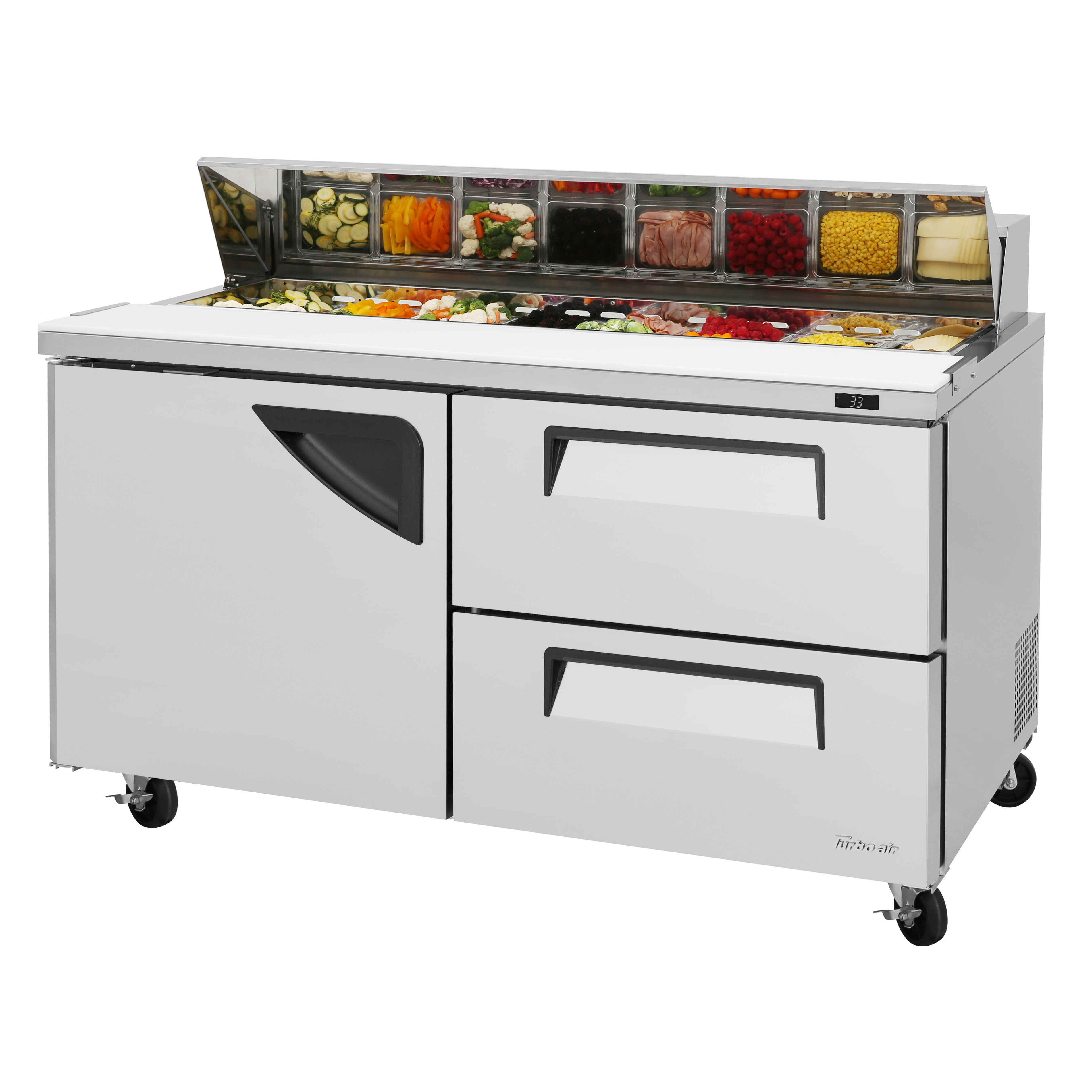 Turbo Air TST-60SD-D2-N refrigerated counter, sandwich / salad unit