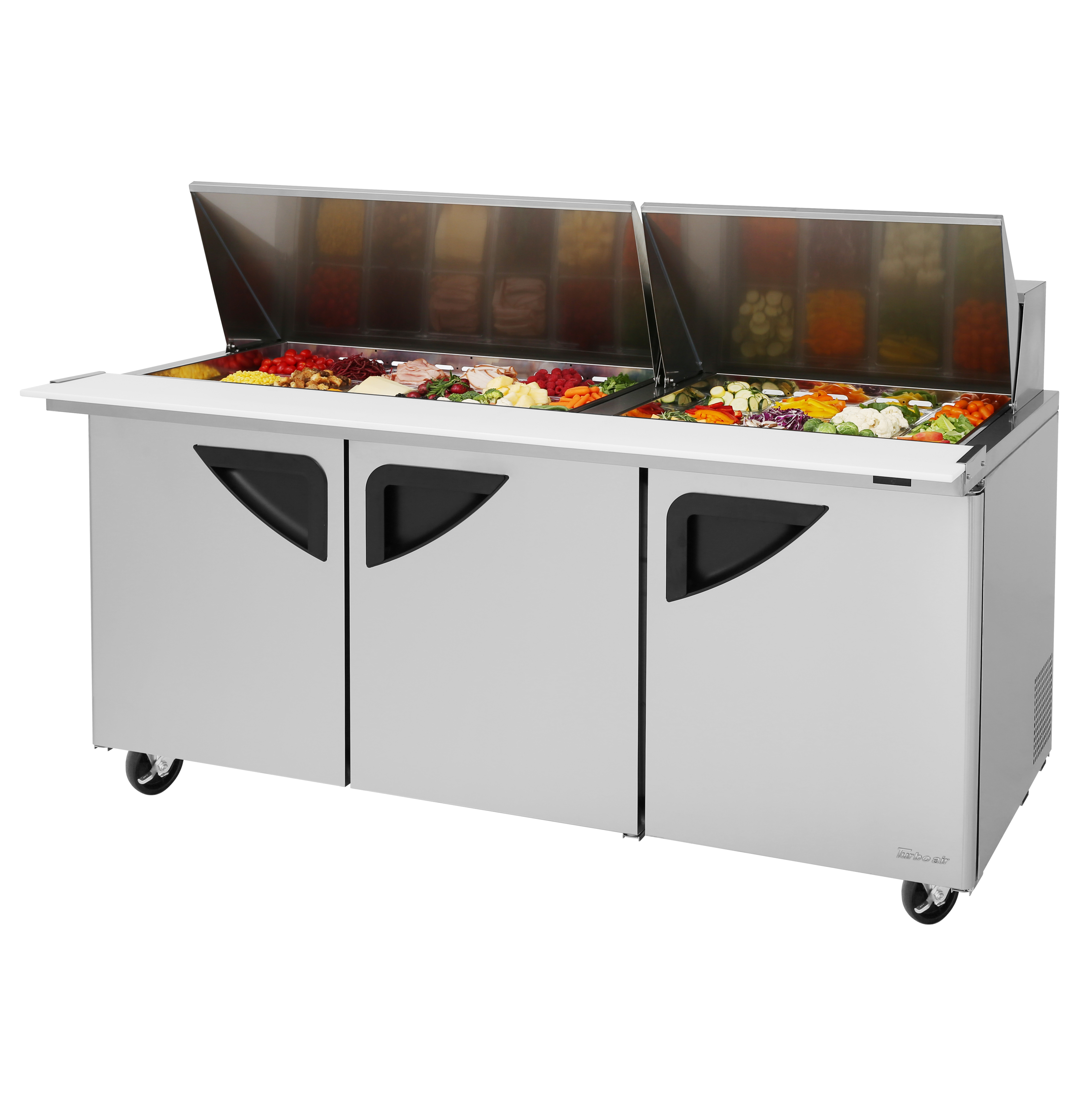 Turbo Air TST-72SD-30-N refrigerated counter, mega top sandwich / salad unit