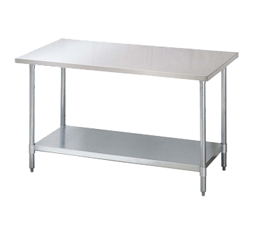 """Turbo Air TSW-2436E work table,  36"""" - 38"""", stainless steel top"""