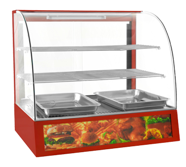 Uniworld Foodservice Equipment DW-CH3 display case, heated deli, countertop