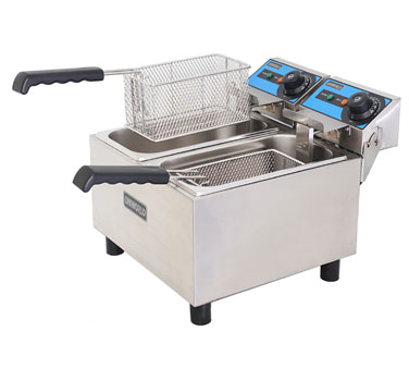 Uniworld Foodservice Equipment UEF-062 fryer, electric, countertop, split pot