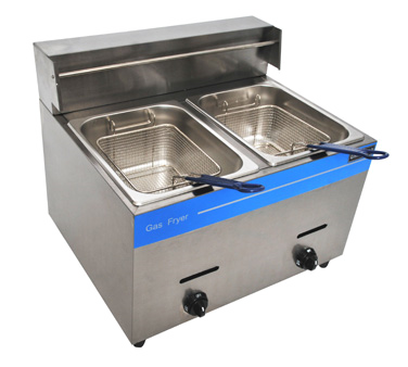 Uniworld Foodservice Equipment UGF-72H fryer, gas, countertop, split pot