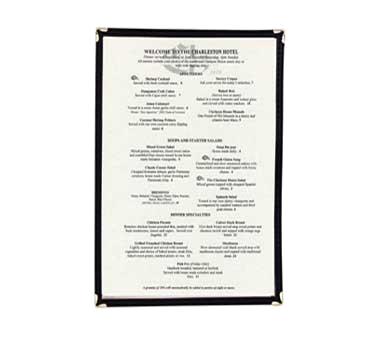 Crown Brands, LLC MCL-1BK menu cover