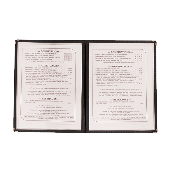 Crown Brands, LLC MCV-2BK menu cover