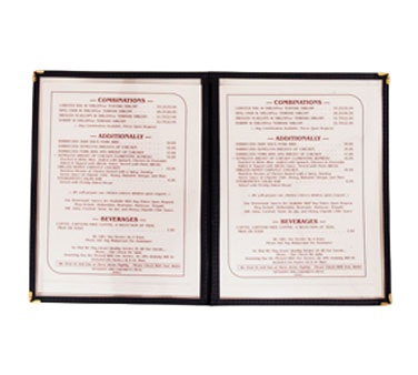 Crown Brands, LLC MCV-2GR menu cover