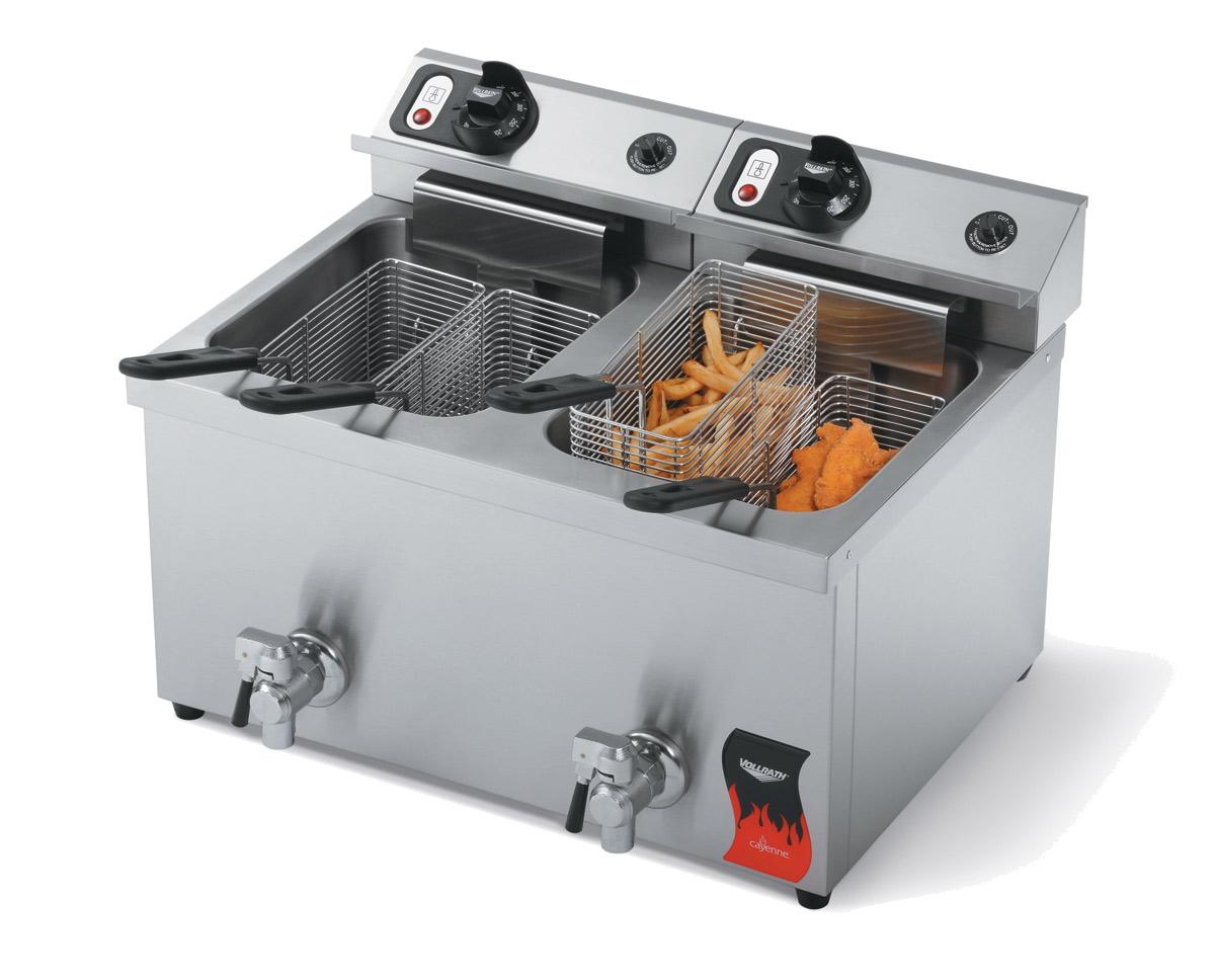 Vollrath 40710-C fryer, electric, countertop, split pot