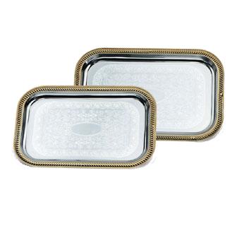 Vollrath 47266 serving & display tray, metal