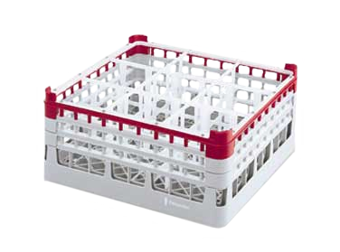 Vollrath 52728 dishwasher rack, glass compartment
