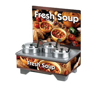 Vollrath 720201103 soup merchandiser, countertop