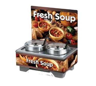 Vollrath 720202103 soup merchandiser, countertop