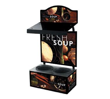 Vollrath 7203202 soup merchandiser, countertop