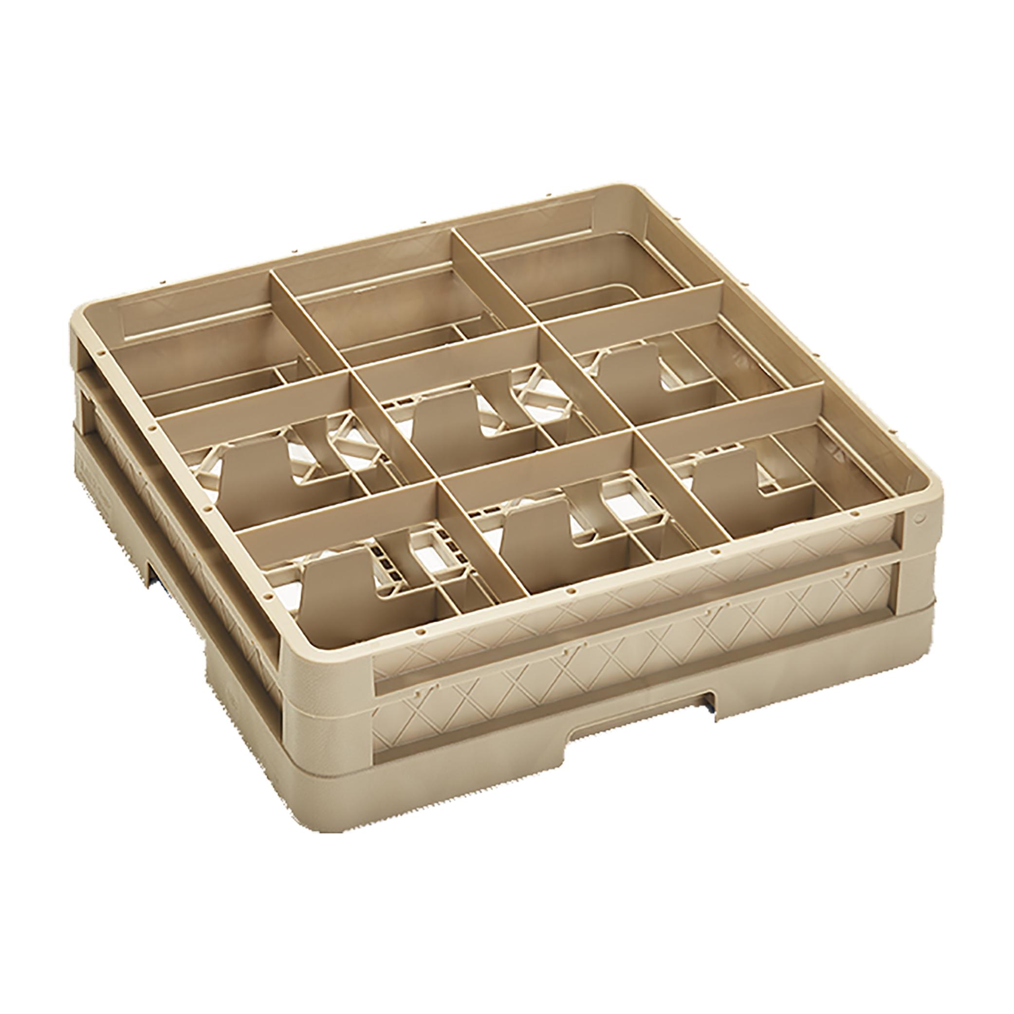 Vollrath CR10F dishwasher rack, glass compartment