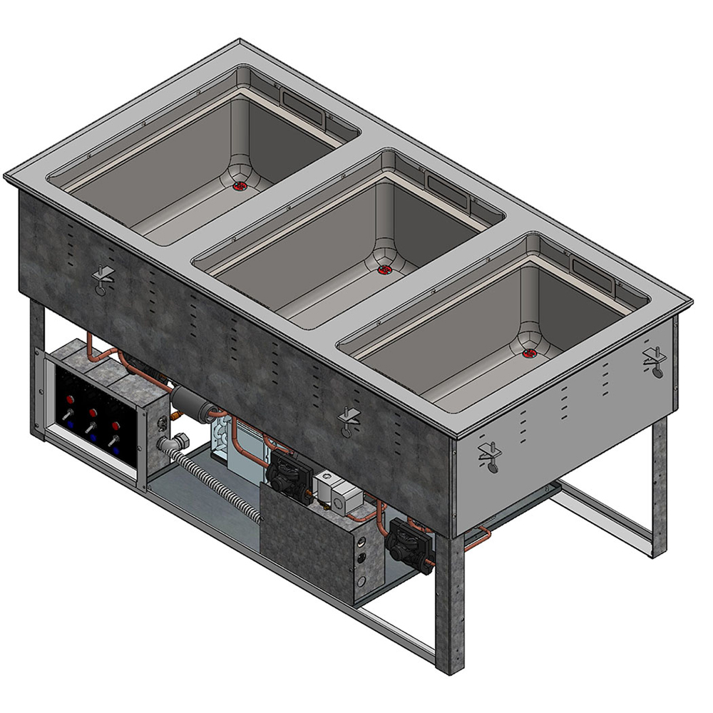Vollrath FC-6HC-03120-AD hot / cold food well unit, drop-in, electric