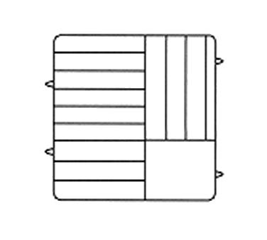 Vollrath PM1211-5 dishwasher rack, plates