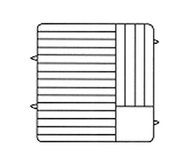 Vollrath PM1912-6 dishwasher rack, plates