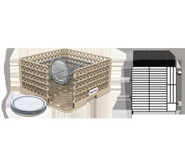 Vollrath PM4407-3 dishwasher rack, plates