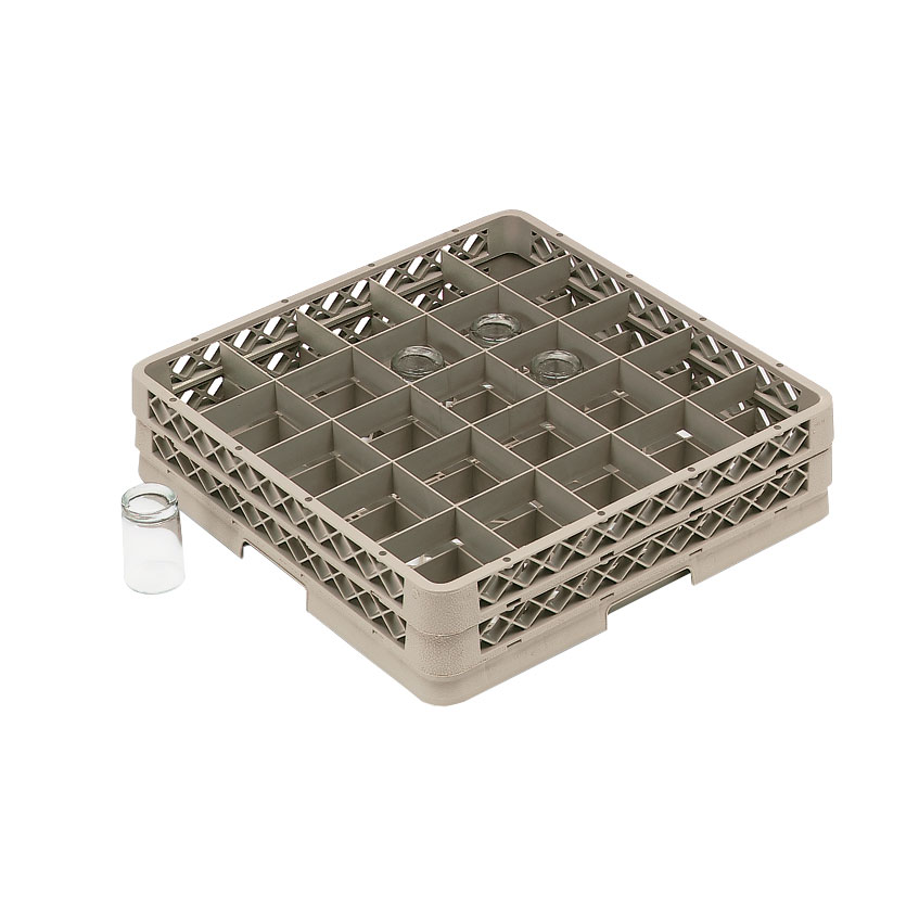 Vollrath TR13B-32 dishwasher rack, glass compartment