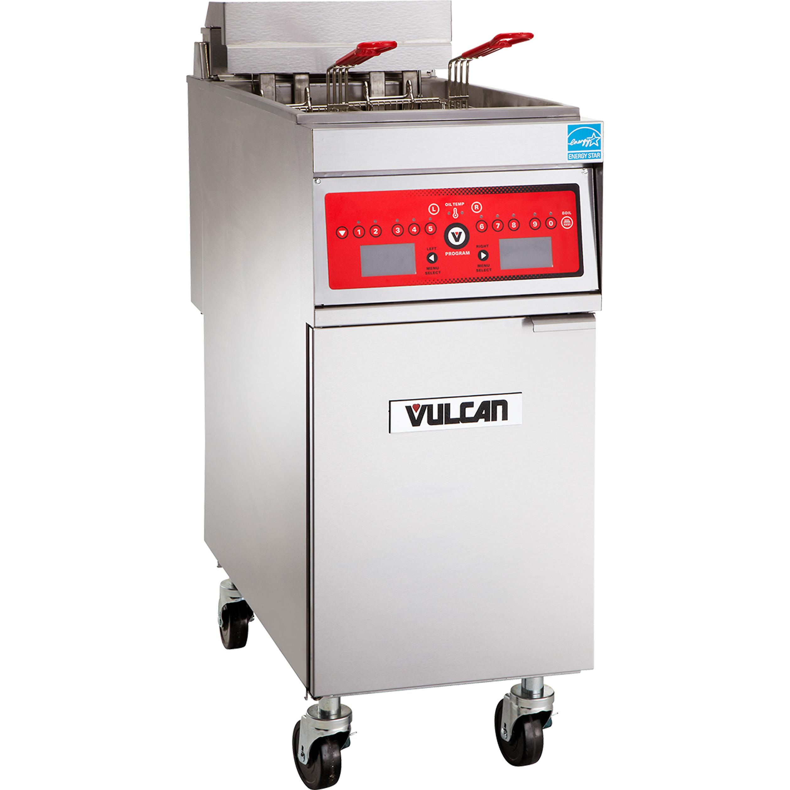 Vulcan 1ER85DF-1 fryer, electric, floor model, full pot