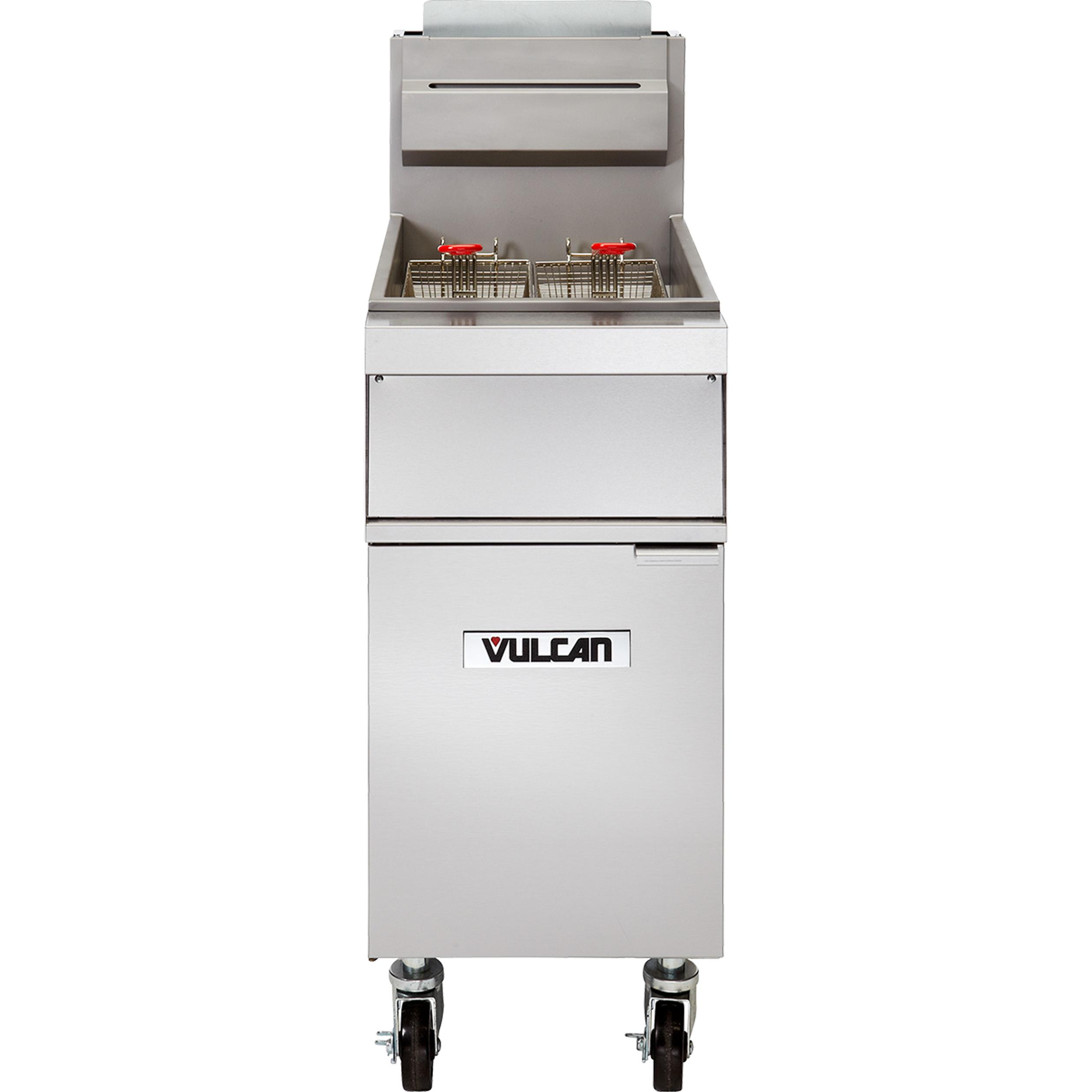 Vulcan 1GR35M fryer, gas, floor model, full pot