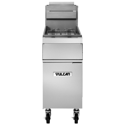 Vulcan 1GR45A fryer, gas, floor model, full pot