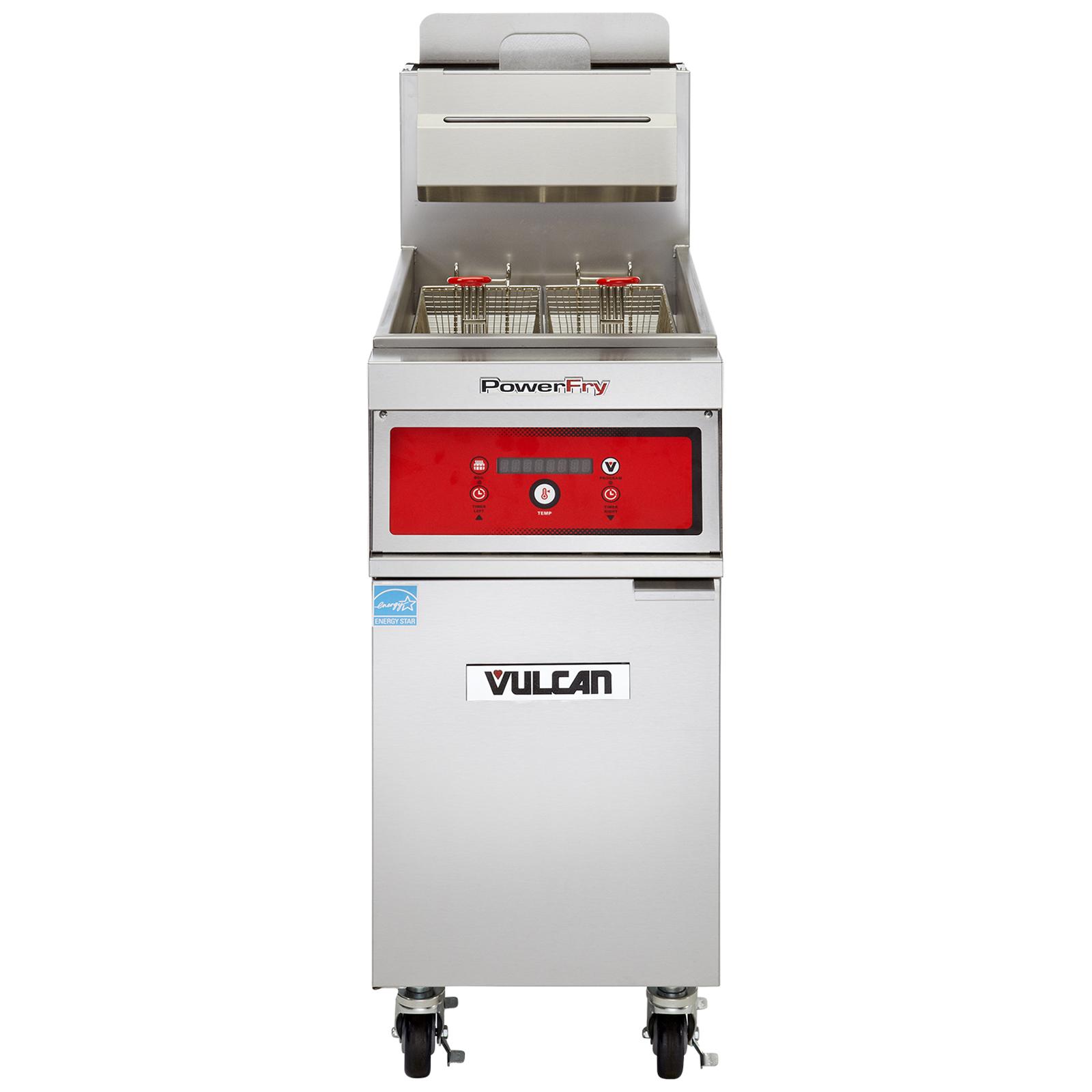 Vulcan 1TR85DF fryer, gas, floor model, full pot