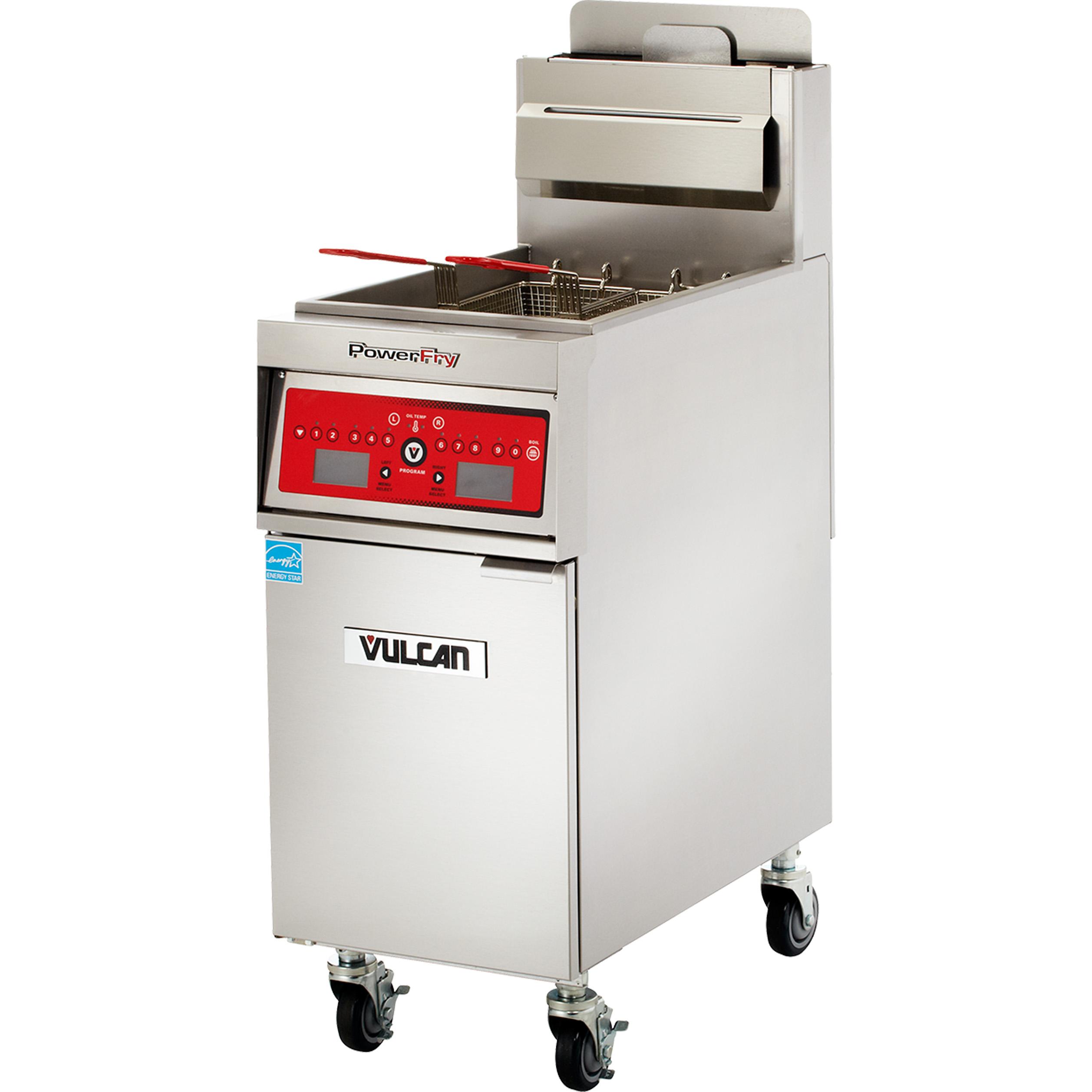 Vulcan 1VK45DF fryer, gas, floor model, full pot