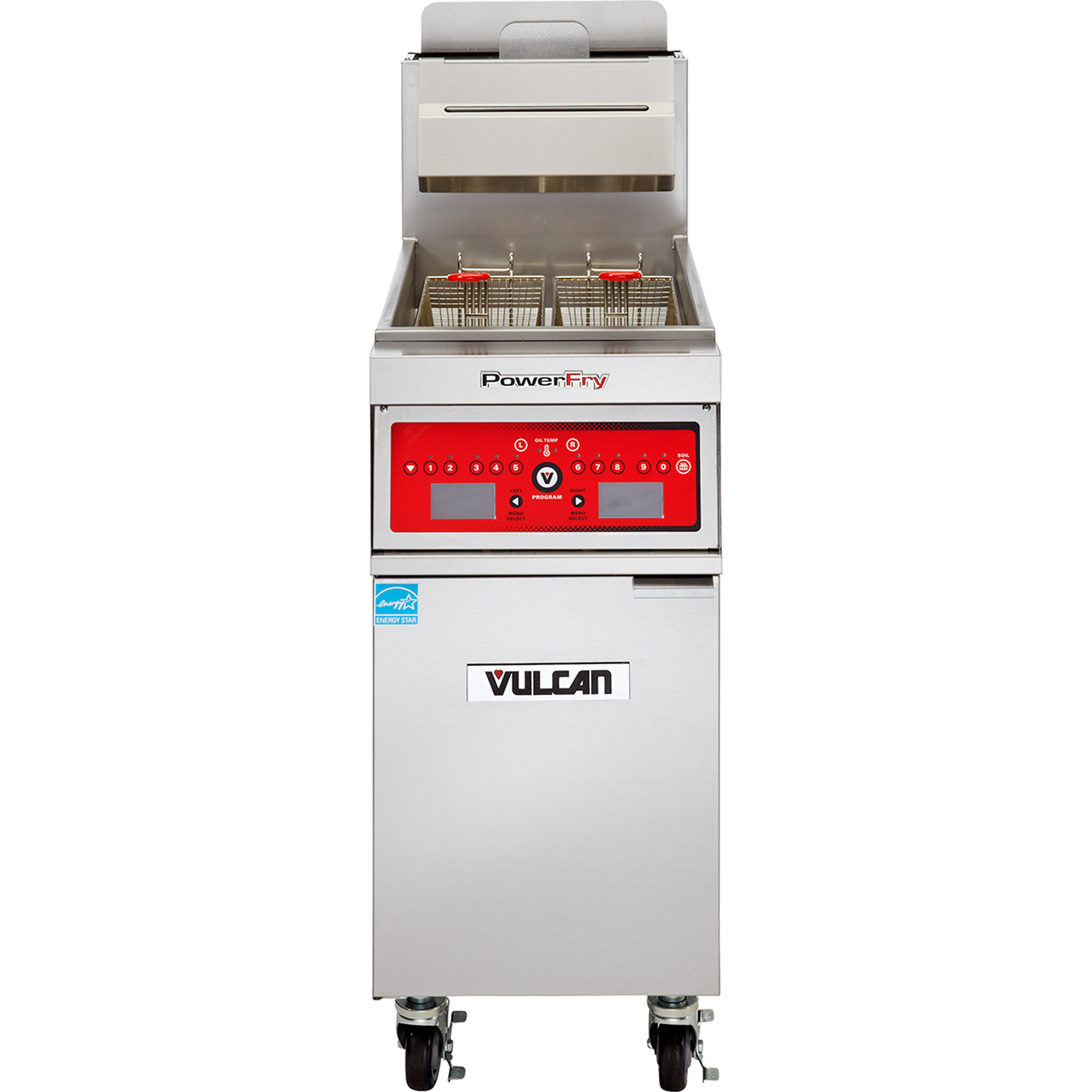 Vulcan 1VK65A fryer, gas, floor model, full pot