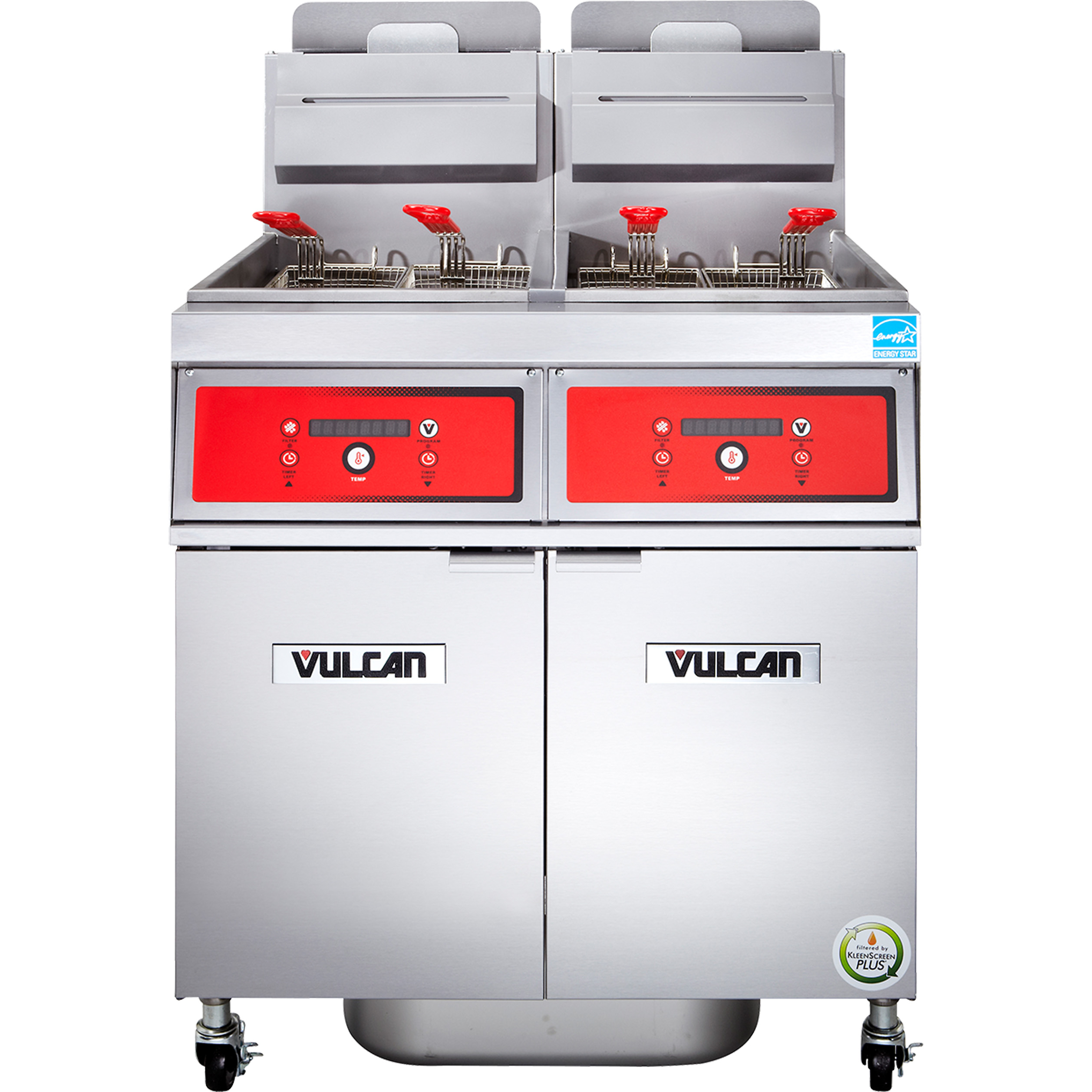 Vulcan 2VK45DF fryer, gas, multiple battery