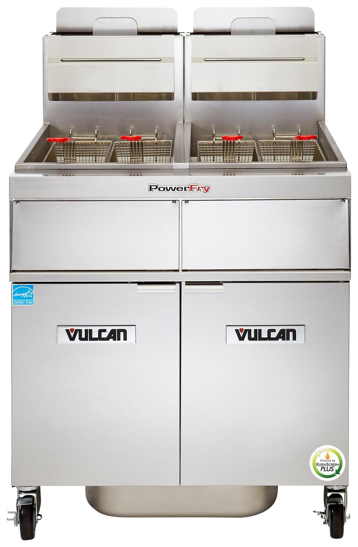 Vulcan 3TR45CF fryer, gas, multiple battery