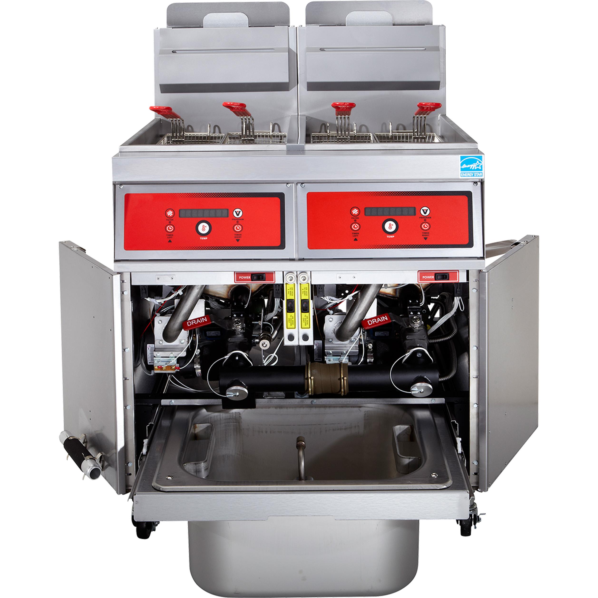 Vulcan 3VK85DF fryer, gas, multiple battery