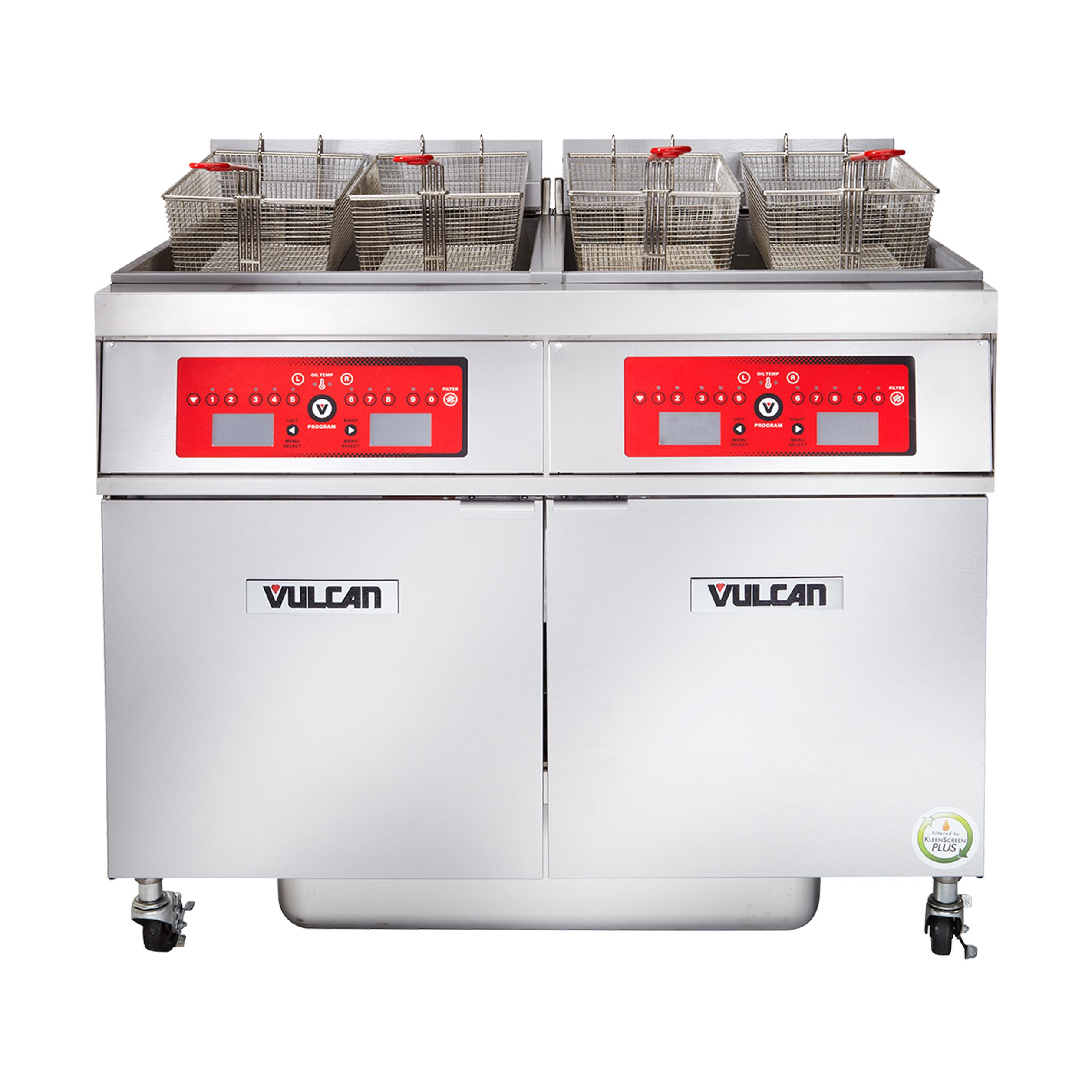 Vulcan 4ER50AF fryer, electric, multiple battery