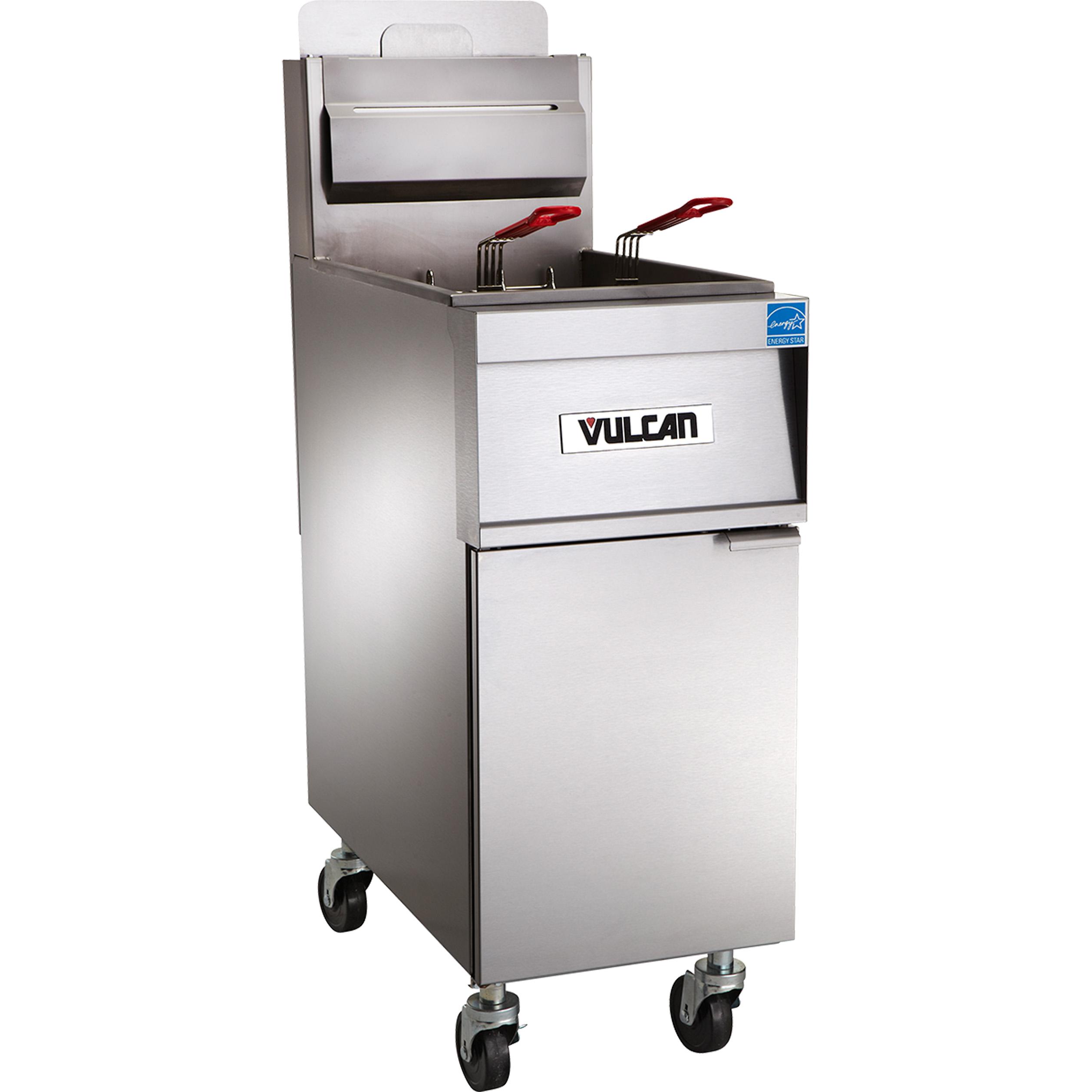 Vulcan 4TR45CF fryer, gas, multiple battery