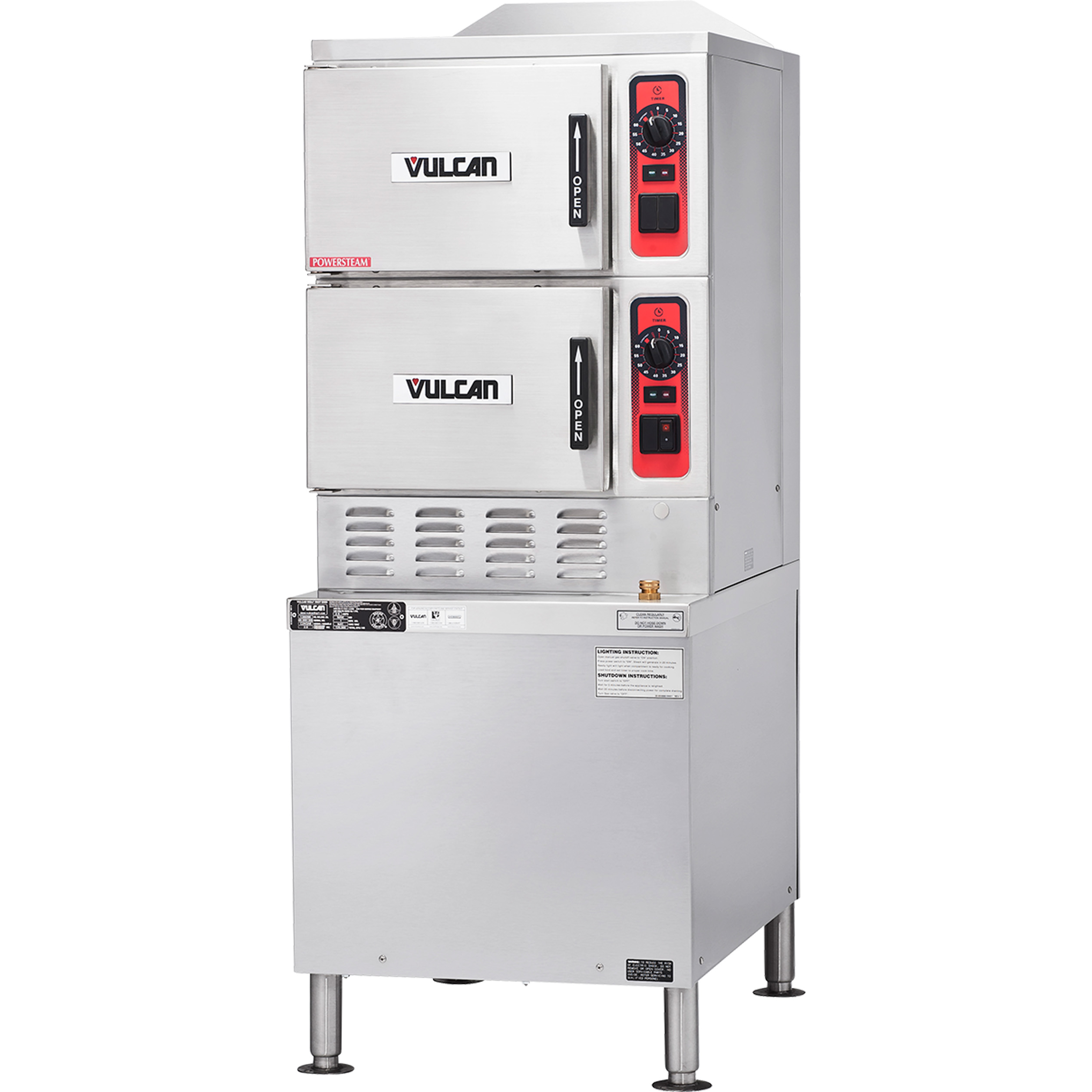 Vulcan C24GA6 steamer, convection, gas, floor model