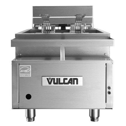 Vulcan CEF40 fryer, electric, countertop, full pot