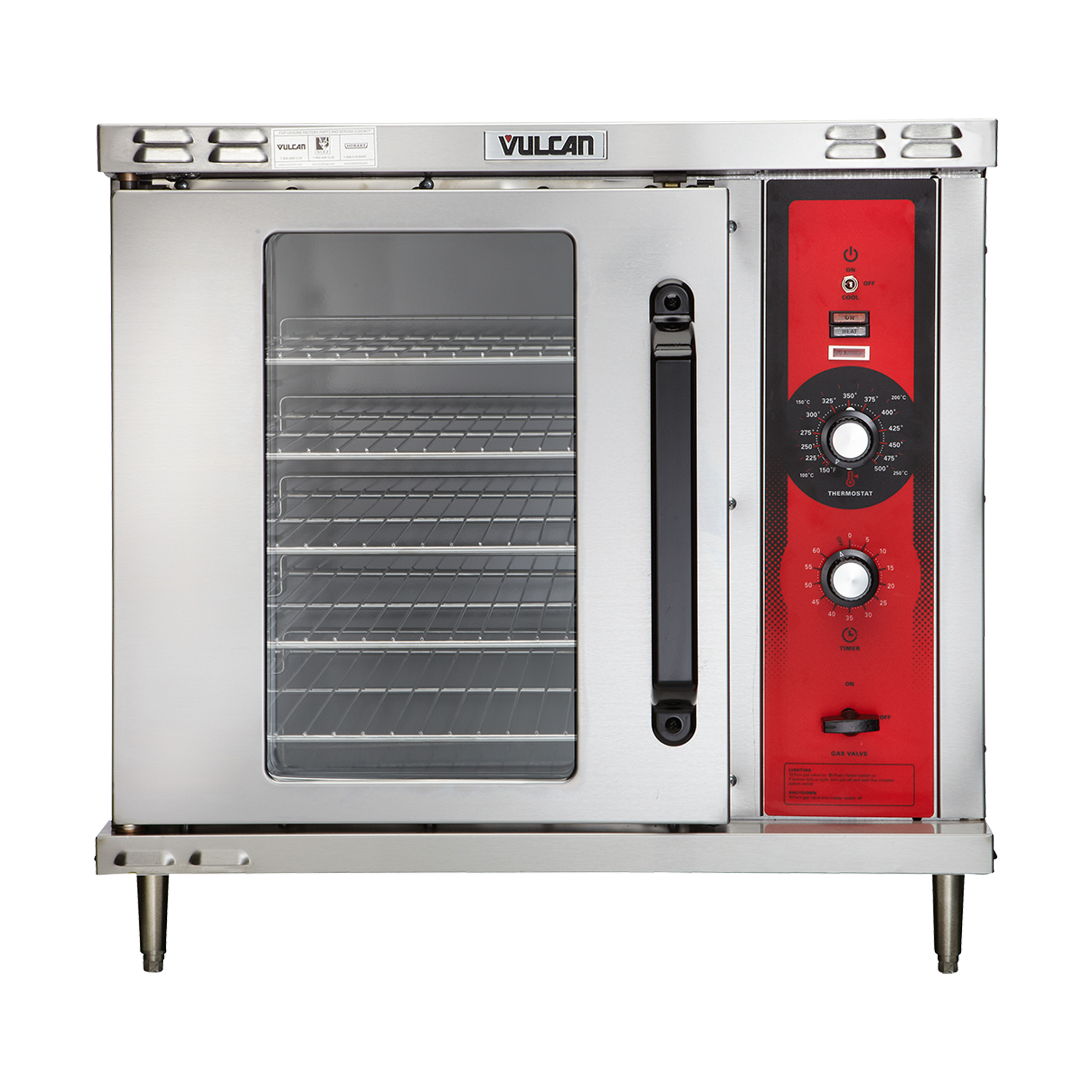 Vulcan GCO2D convection oven, gas