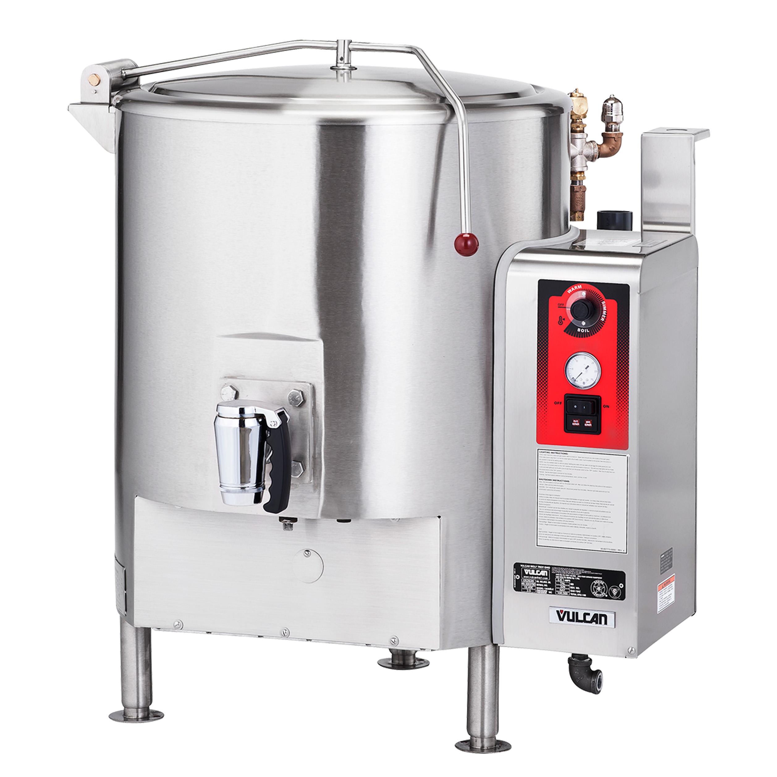 Vulcan GT100E kettle, gas, stationary