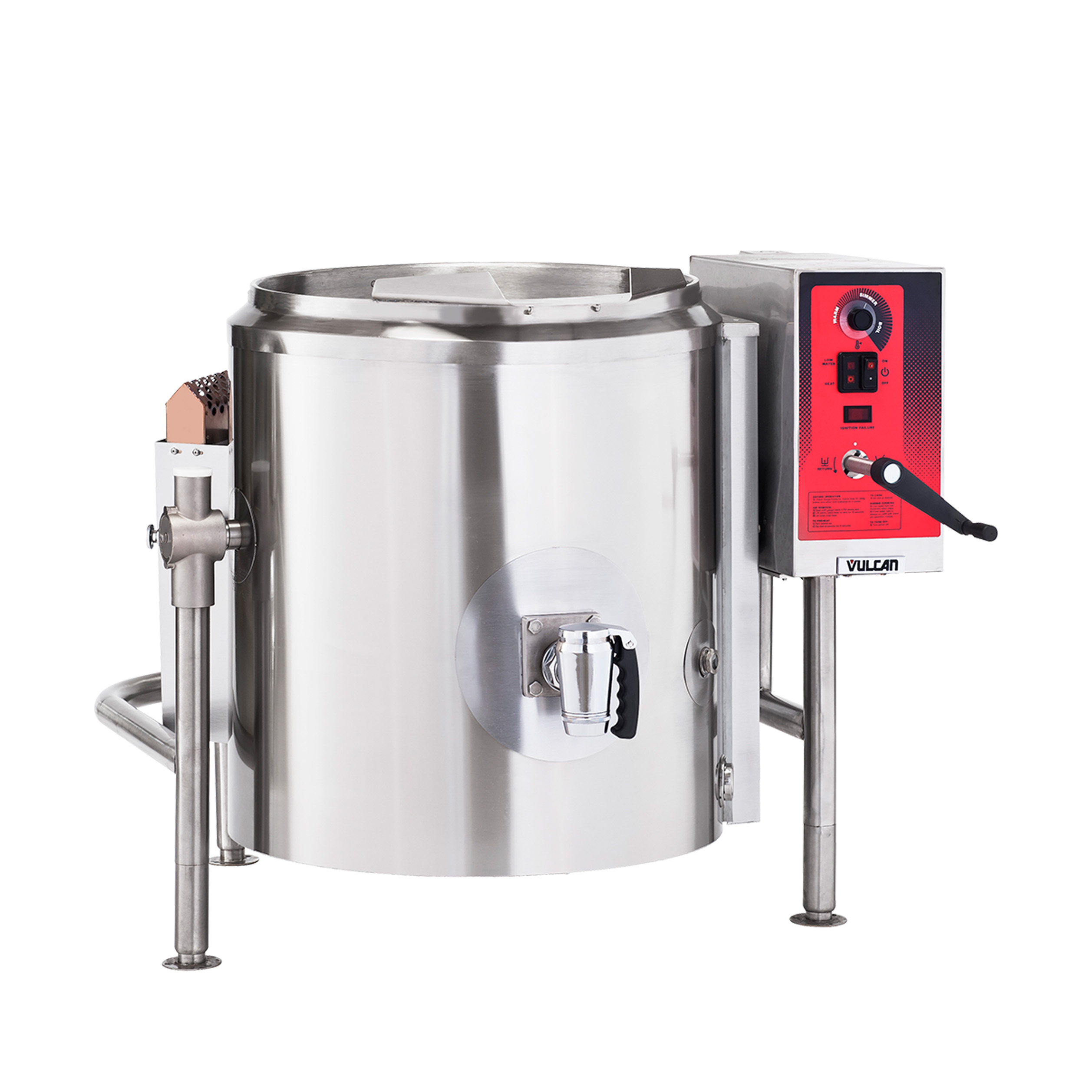 Vulcan K40GL kettle, gas, stationary