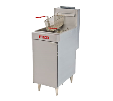 Vulcan LG300 fryer, gas, floor model, full pot