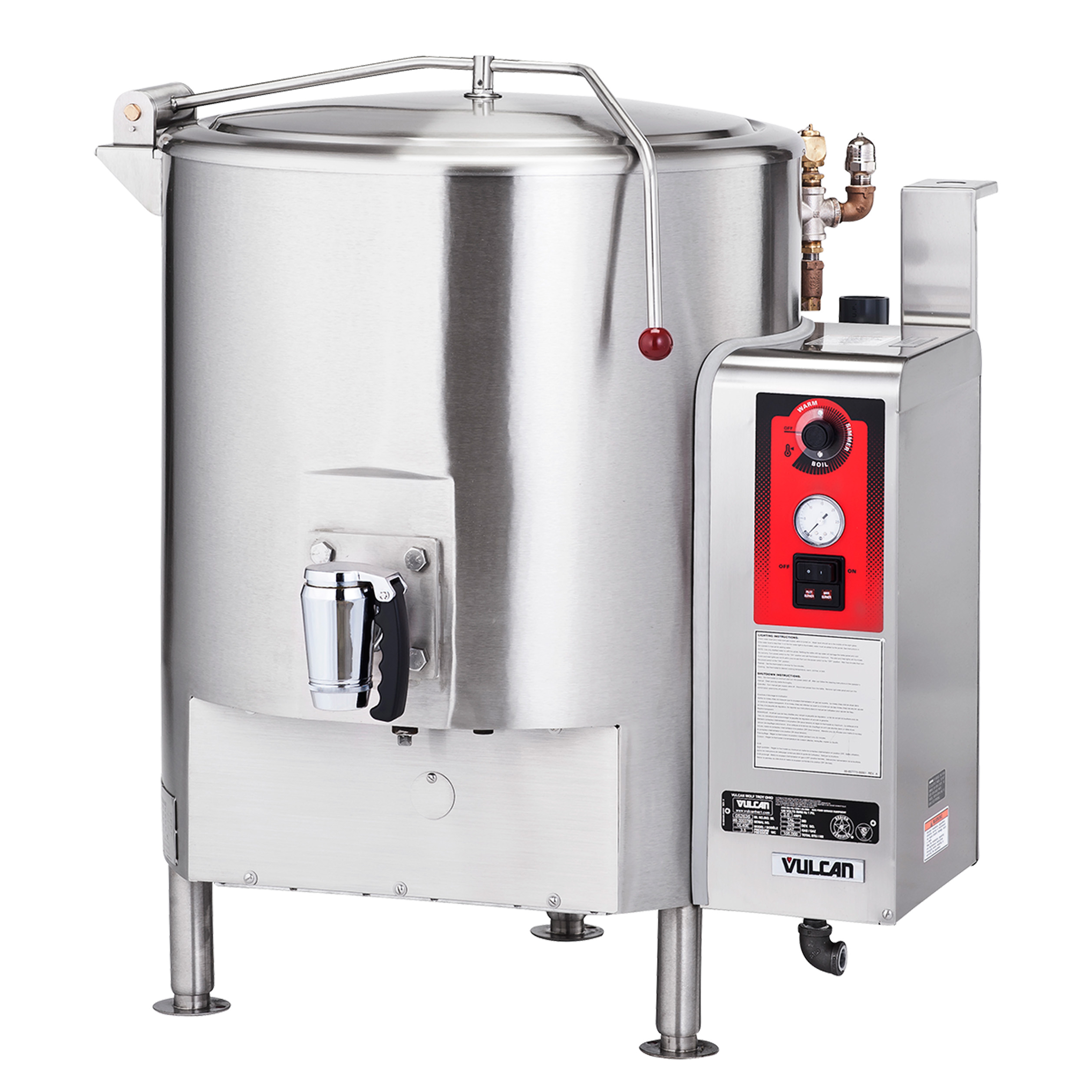 Vulcan ST100 kettle, direct steam, stationary