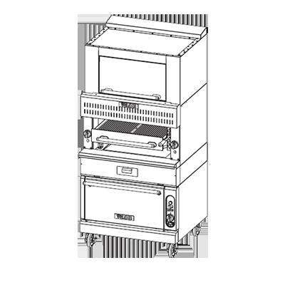 Vulcan VBB1BF broiler, deck-type, gas