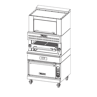 Vulcan VBB1SF broiler, deck-type, gas