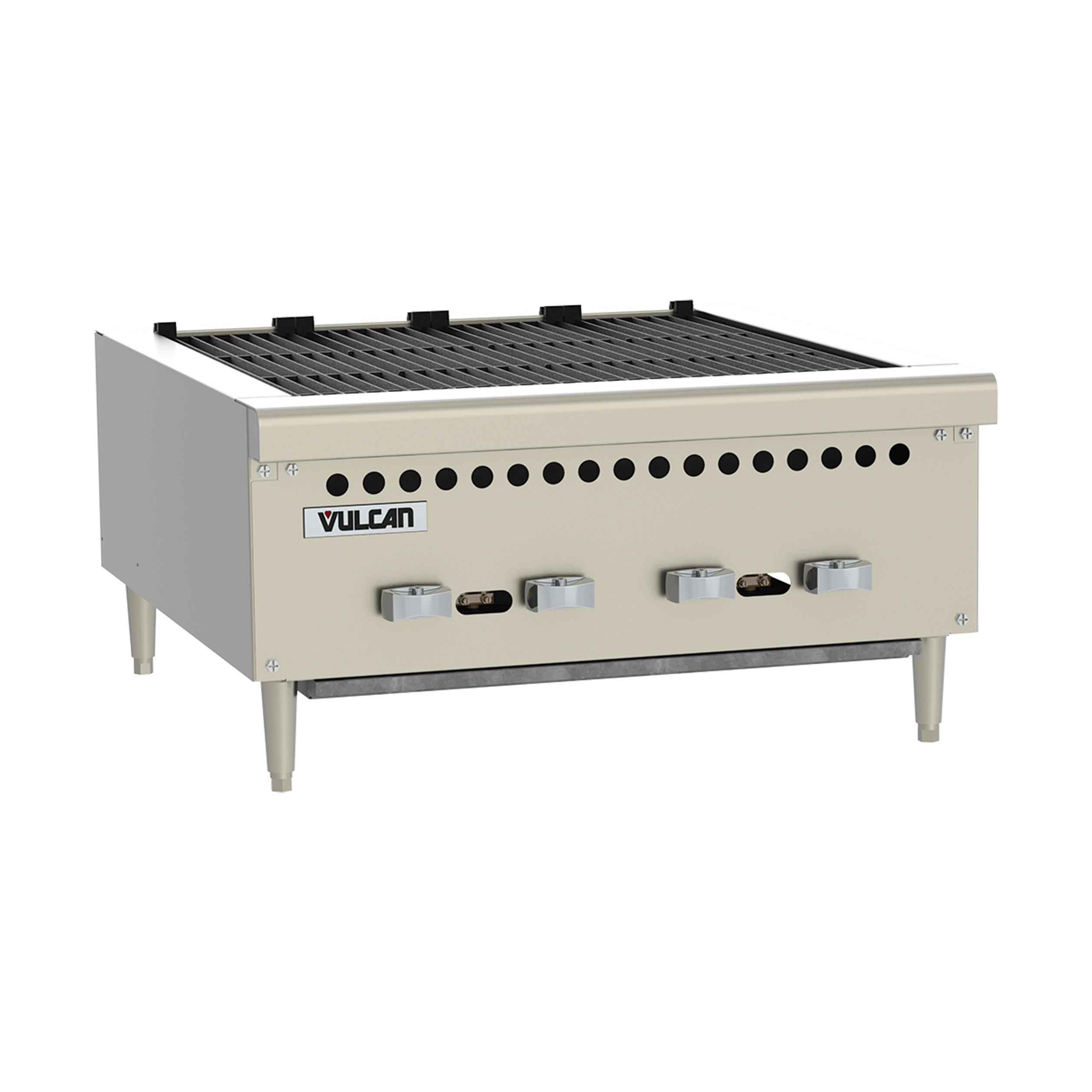 Vulcan VCRB25 charbroiler, gas, countertop