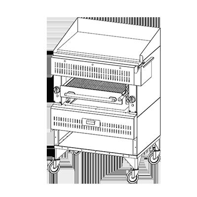 Vulcan VST3B broiler, deck-type, gas