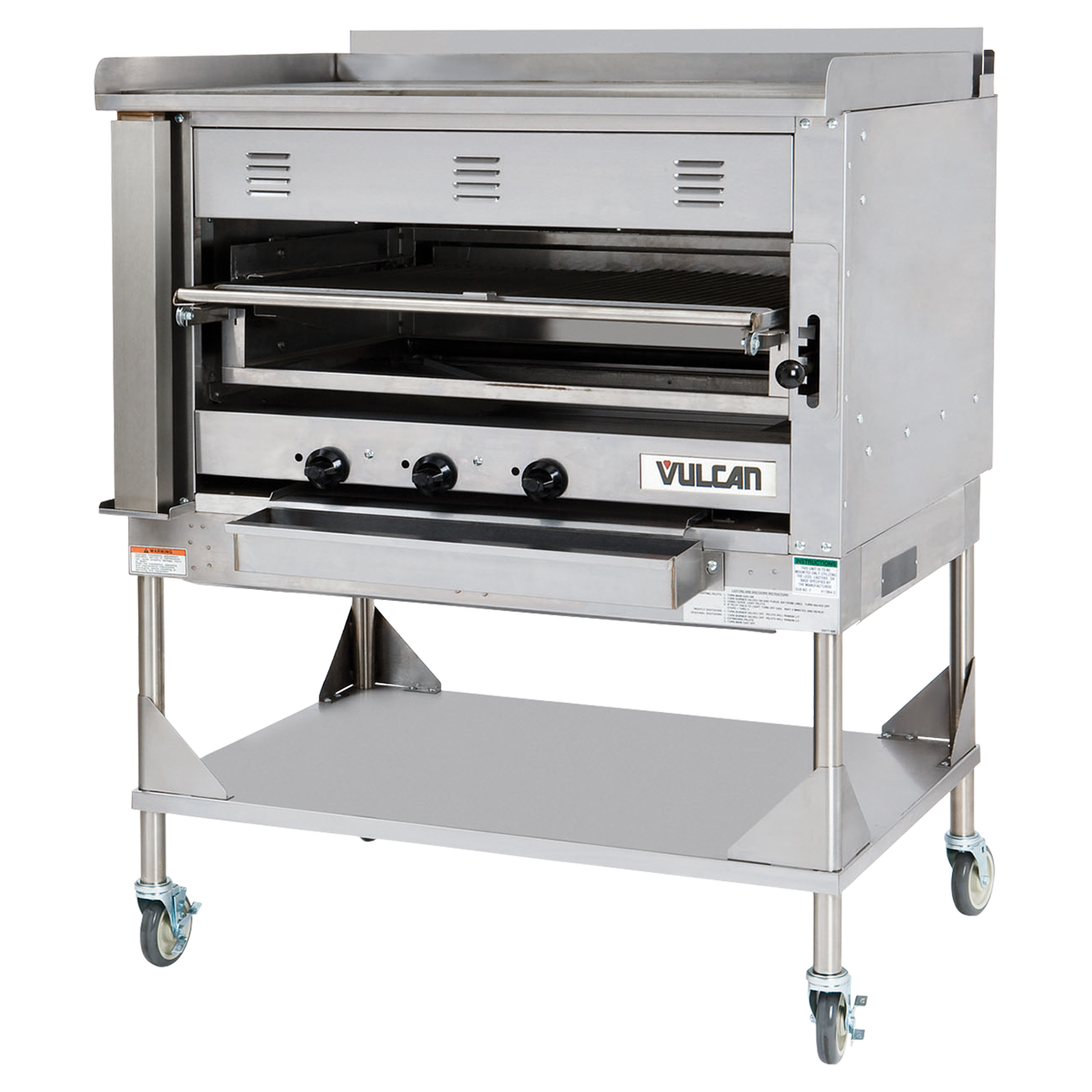 Vulcan VST4B broiler, deck-type, gas