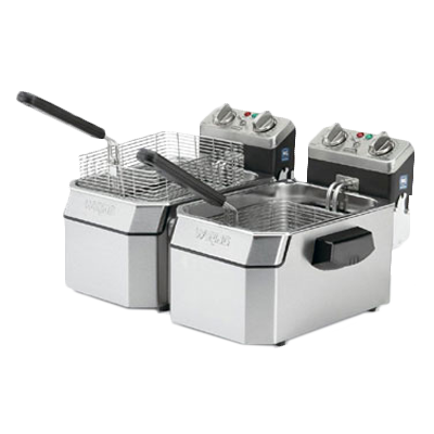 Waring WDF1000BD fryer, electric, countertop, split pot