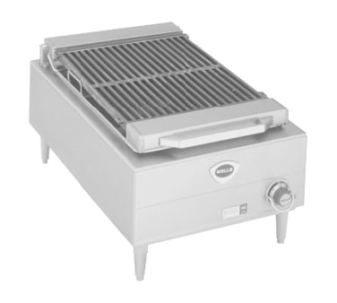 Wells B-44 charbroiler, electric, countertop