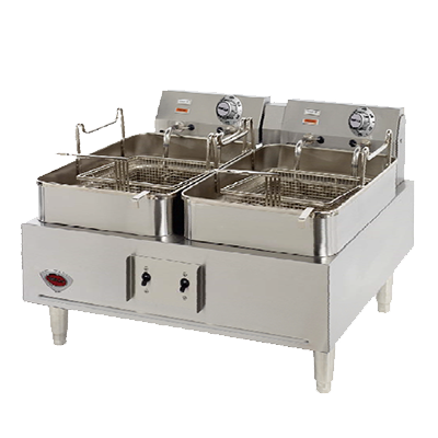 Wells F-30 fryer, electric, countertop, split pot