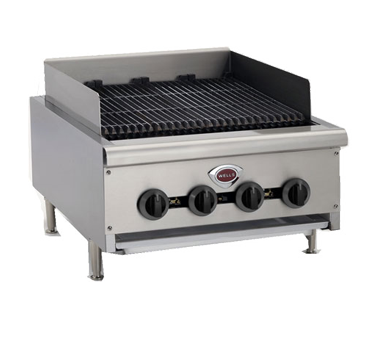Wells HDCB-2430G-QS charbroiler, gas, countertop